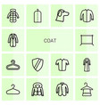 14 coat icons vector image vector image