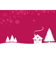 a white christmas vector image vector image