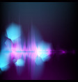 abstract equalizer background blue-purple wave vector image vector image