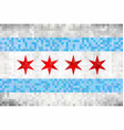 abstract grunge mosaic flag of chicago vector image vector image