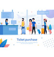 airplane tickets purchase flat ad banner vector image vector image
