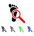audit footprint flat icon