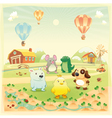 Baby farm animals in the countryside vector image vector image