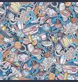 bathroom hand drawn cartoon doodles seamless vector image vector image