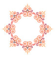 beautiful luxury round frame ornamental border vector image