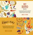 boho market banners vector image vector image