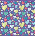 bright colorful hearts purple seamless vector image vector image