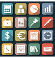 Business and office flat icons vector image vector image