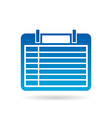 Calendar agenda 7 days of week vector image vector image