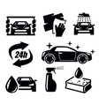 car wash icons vector image vector image