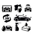 car wash icons vector image vector image