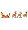 christmas santa sleigh 05 vector image vector image