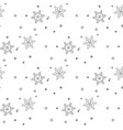 christmas seamless pattern from gray snowflakes vector image vector image