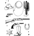 Cowboy and Wild West accessories vector image vector image