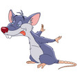 cute hungry rat vector image vector image