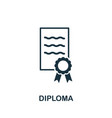 diploma icon symbol creative sign from education vector image