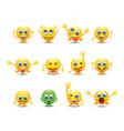 emoji line vector image vector image
