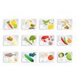 food vitamin vector image vector image