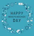 frame with israel independence day holiday flat vector image vector image