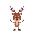 funny Christmas reindeer character isolated icon vector image vector image