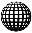 globe black symbol vector image vector image