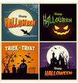Happy halloween set card vector image vector image