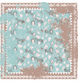 horse and paisley rough carpet square vector image