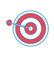 isolated dartboard design vector image vector image