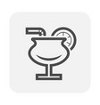 juice icon black vector image vector image