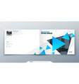landscape brochure design blue corporate business vector image