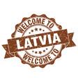 latvia round ribbon seal vector image vector image