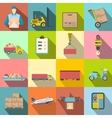 logistics flat icons vector image vector image