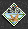 logo for duck hunting vector image