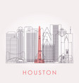 outline houston skyline with landmarks vector image vector image