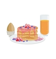 Pancakes Egg And Orange Juice Breakfast Food vector image vector image