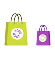 paper bags with place for company logo vector image vector image