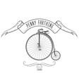 penny-farthing bicycle vintage emblem retro bike vector image vector image