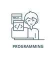 programming line icon linear concept vector image vector image