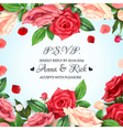 realistic rose background vector image vector image