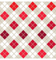 red argyle harlequin seamless pattern vector image