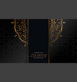 royal black and gold mandala islamic background
