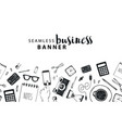 seamless horizontal banner business vector image vector image