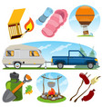 set in the tourism theme color travel logos vector image