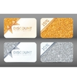 Set of golden and silver glitter white discount vector image