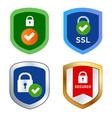 shield icon emblem ssl security secured web vector image