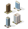 skyscraper tall building icons business center vector image
