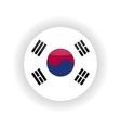 South Korea icon circle vector image