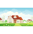 Spring cottage vector image vector image