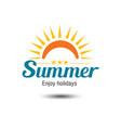 summer emblem vector image vector image