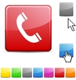 Telephone glossy button vector | Price: 1 Credit (USD $1)